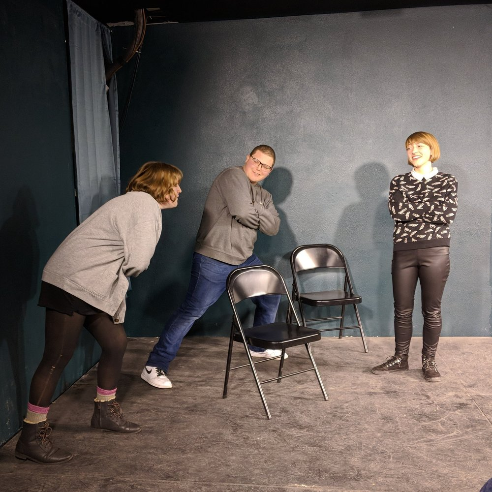 Nude   coached by Max Schwartz   Creating a web of stories that will leave you laughing your head off, Nude brings you big characters and unique scenework. You can catch them at - you guessed it - SYP Awesome Improv Show on Wednesday nights at Grafenberg Theater!