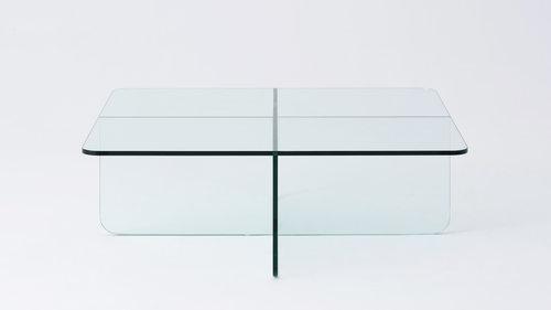 Verre Square Glass Coffee Table Eq3 M Collection Home