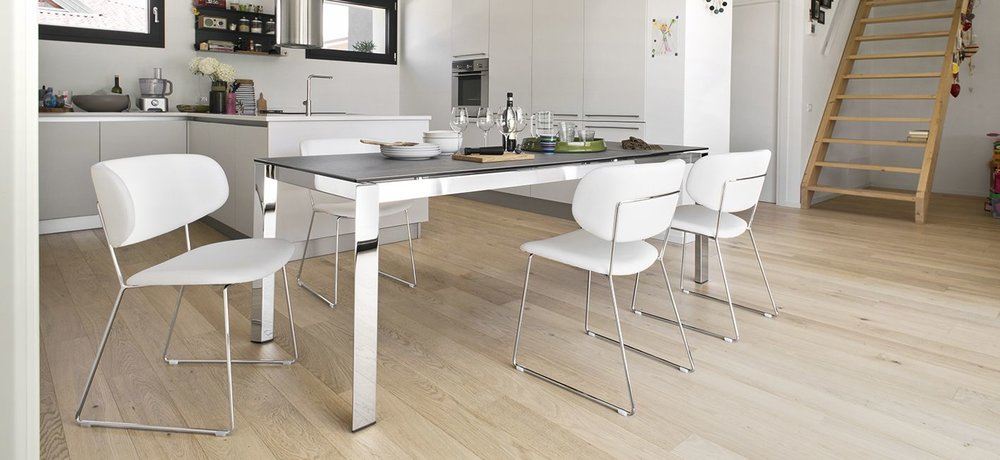 Duca Extendable Dining Table   Glass/Ceramic   Calligaris