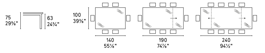 Echo Table Dimensions - Calligaris - M Collection NYC.png