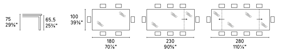 Tower Table Dimensions - Calligaris - M Collection.png