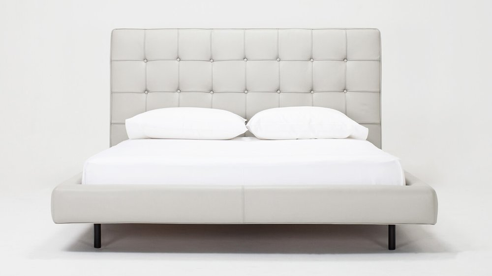Winston Bed - Leather - High Headboard (low available in leather)