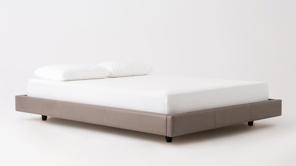 Bento Bed - Frame - Leather - Rotatable Leg