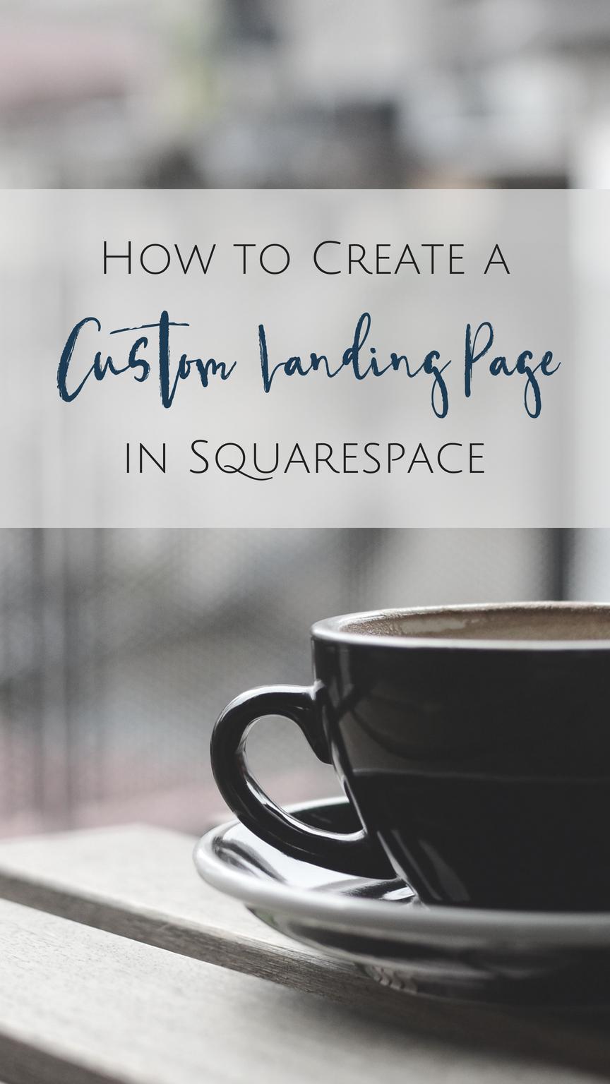 Create a Custom Landing Page