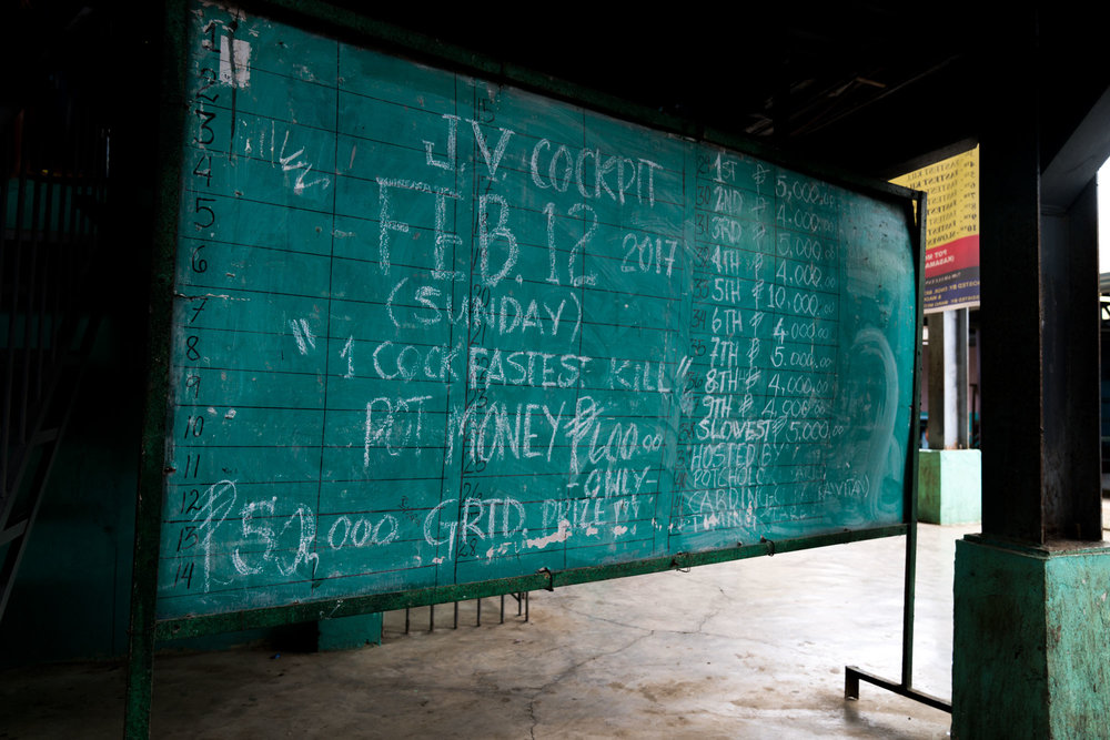 Information Board. - Rosario Cockpit Arena, Batangas-