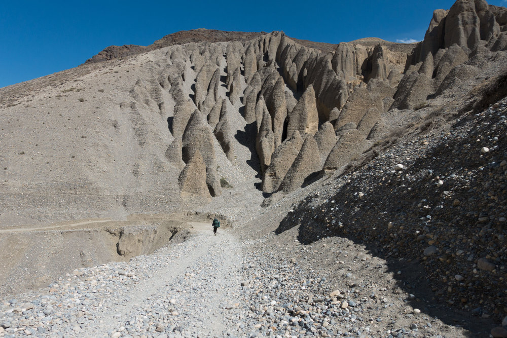 The scale of the Mustang landscape can be breathtaking.