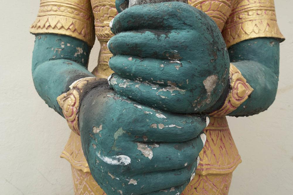 Temple statue, Vietnatren, Laos