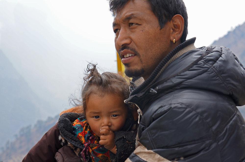 Father and baby-  Langtang, Nepal