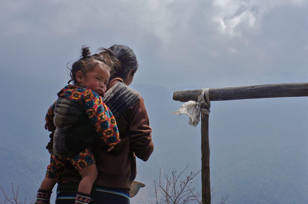 Mother and baby-  Langtang, Nepal
