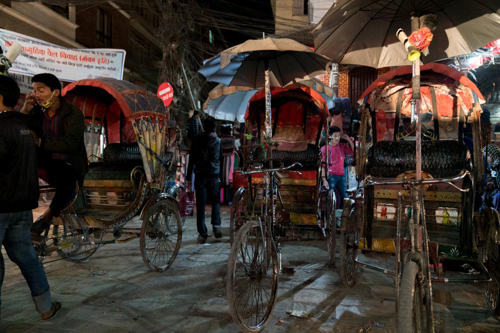 Rickshaws-  Thamel, Kathmandu