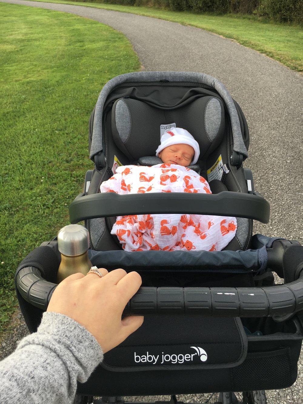 Dominic in the stroller