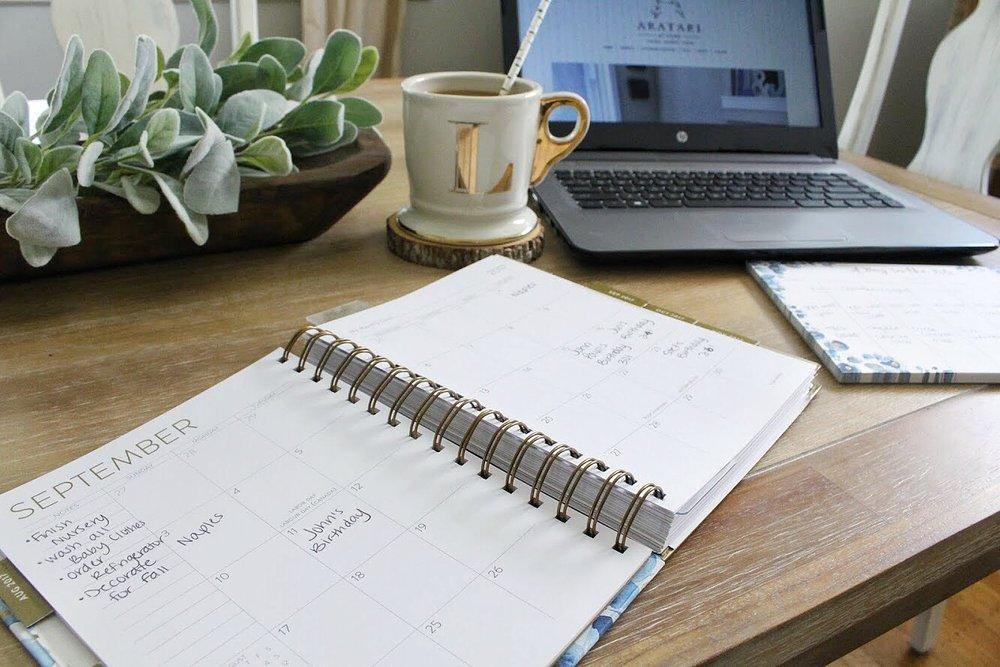 Organizing my planner