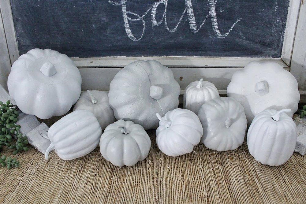 close up of diy pumpkins