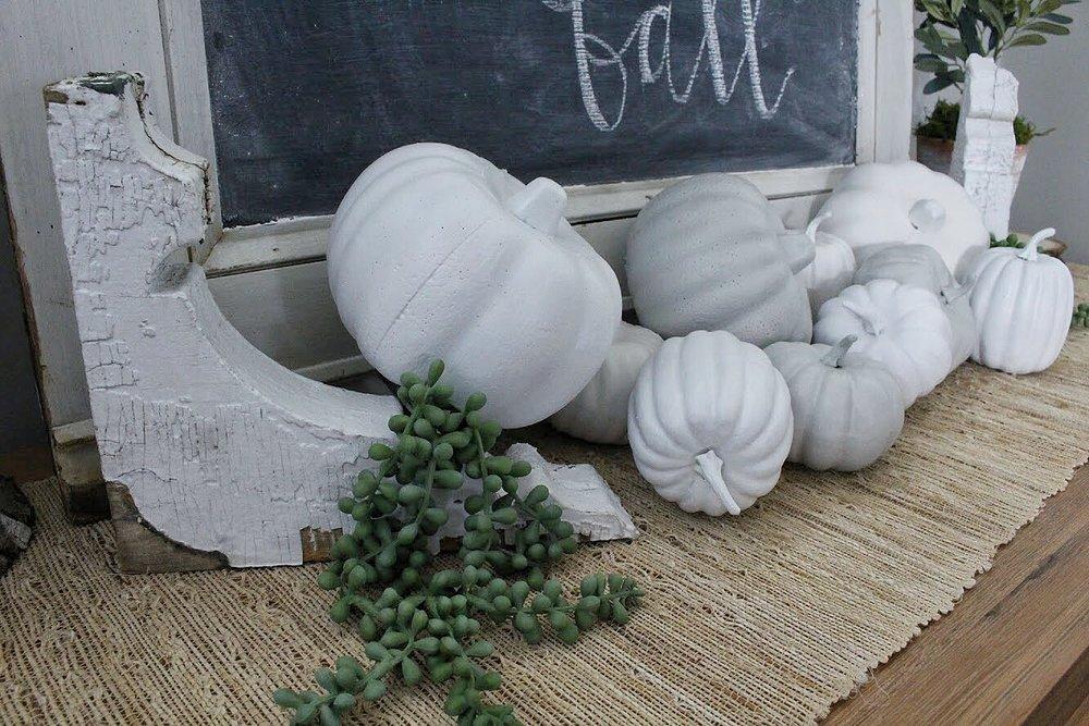 pumpkins and corbel