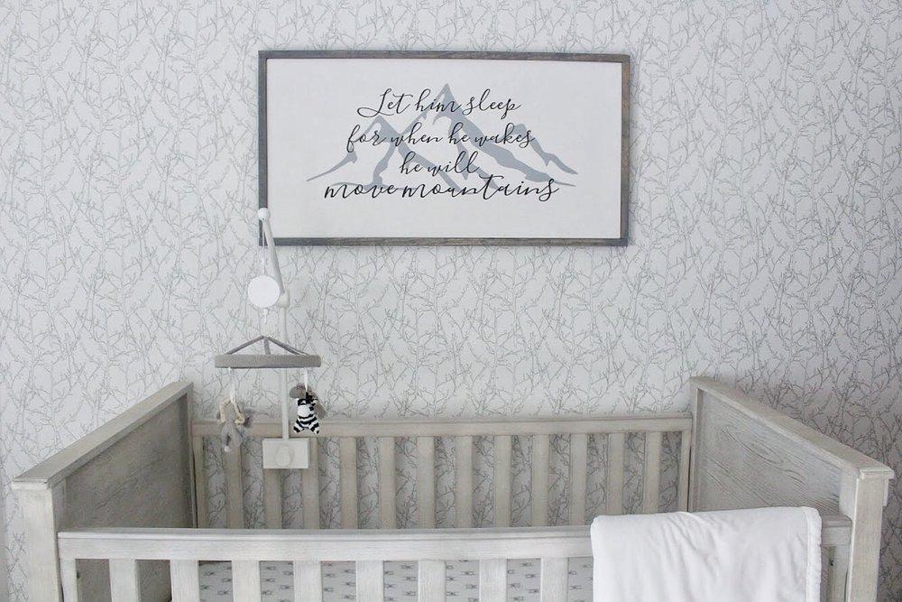 Sign above crib