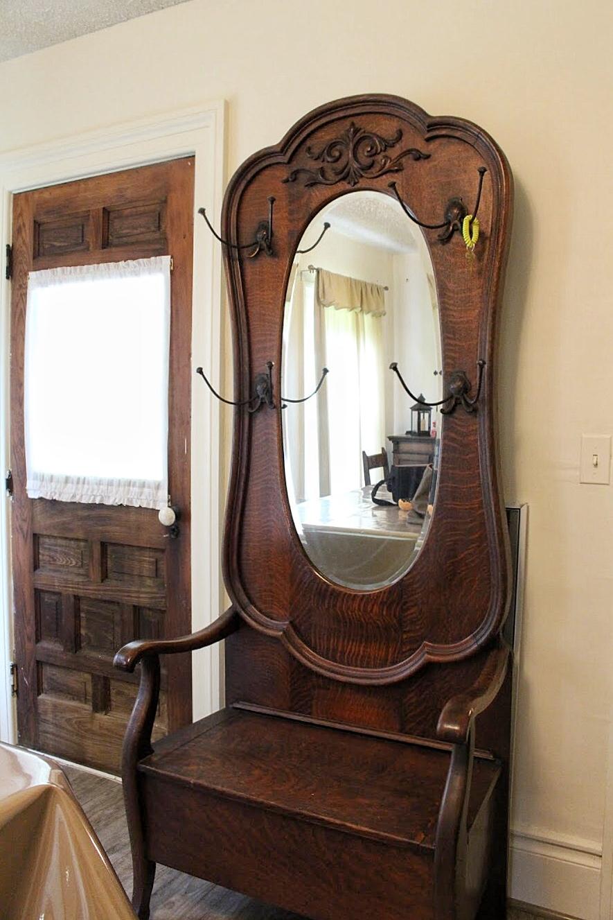 antique mirror in the farmhouse