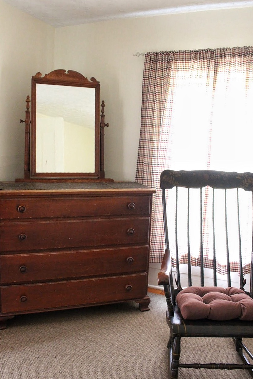 antique dresser and rocking chair at the farmhouse