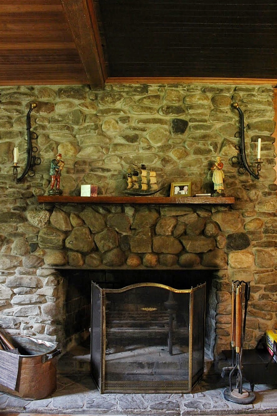 fireplace at the farmhouse