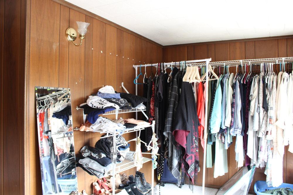 before of master closet