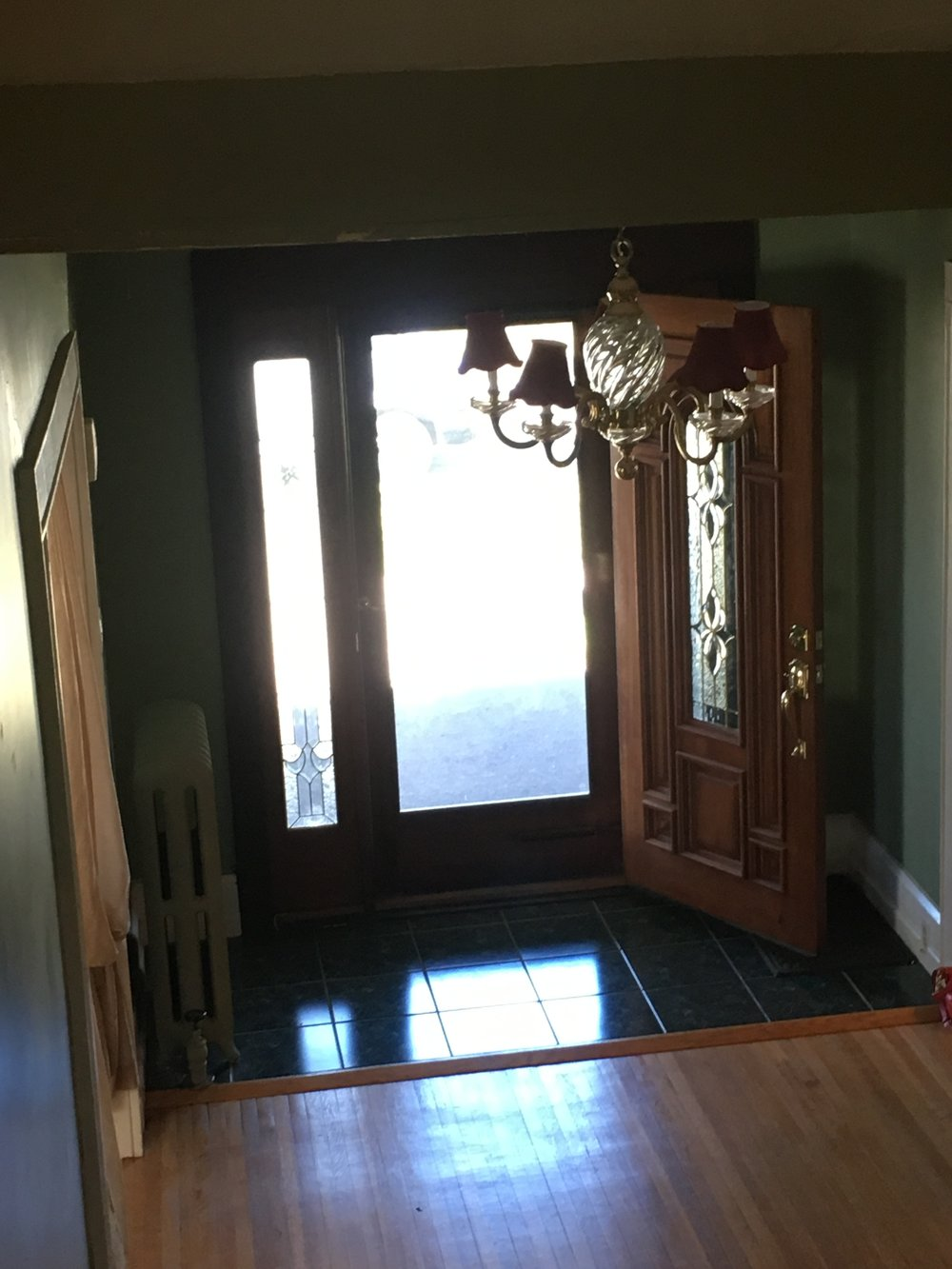 Before of the entryway
