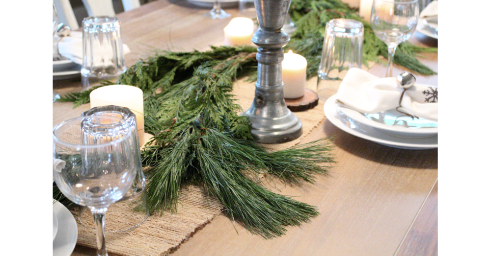 Greenery on the tablescape