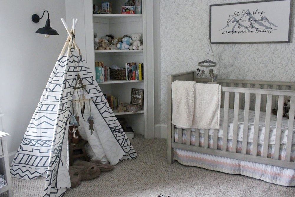 Teepee and crib
