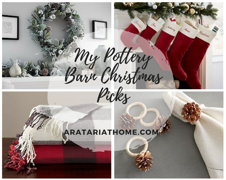 My Pottery Barn Christmas Picks