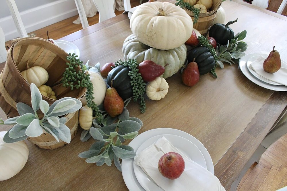 overhead of tablescape