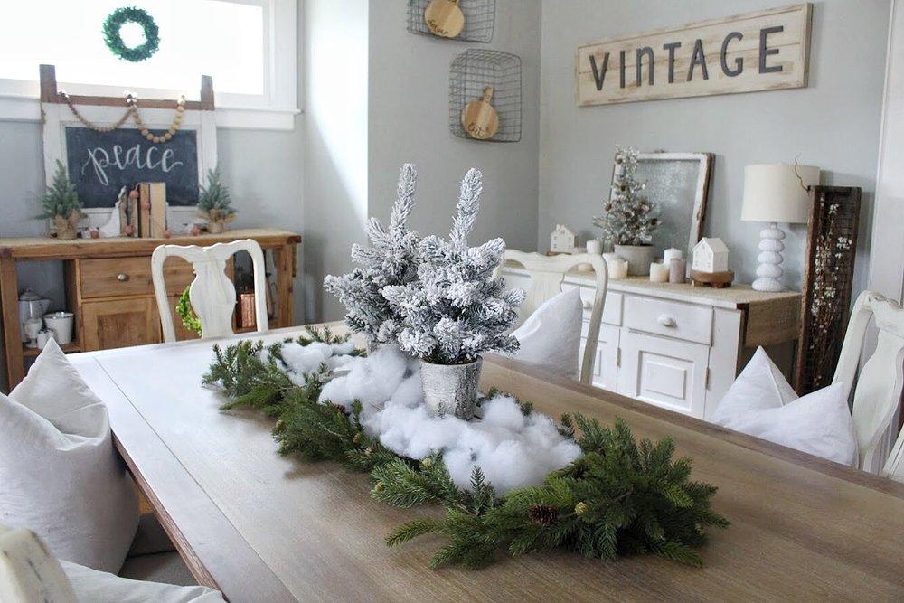 Christmas flocked trees