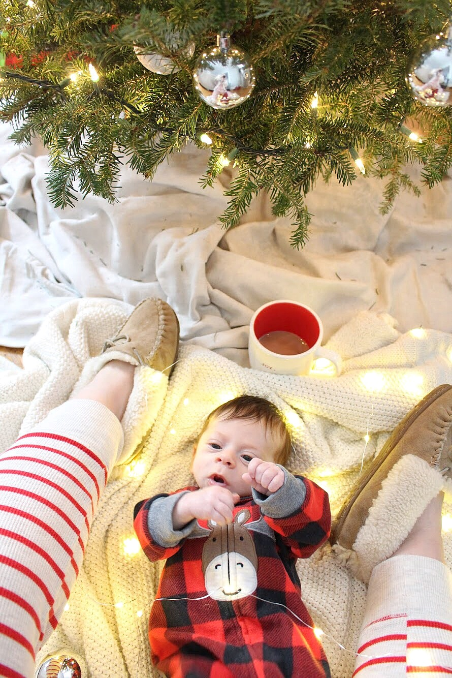 Dominic under the Christmas tree