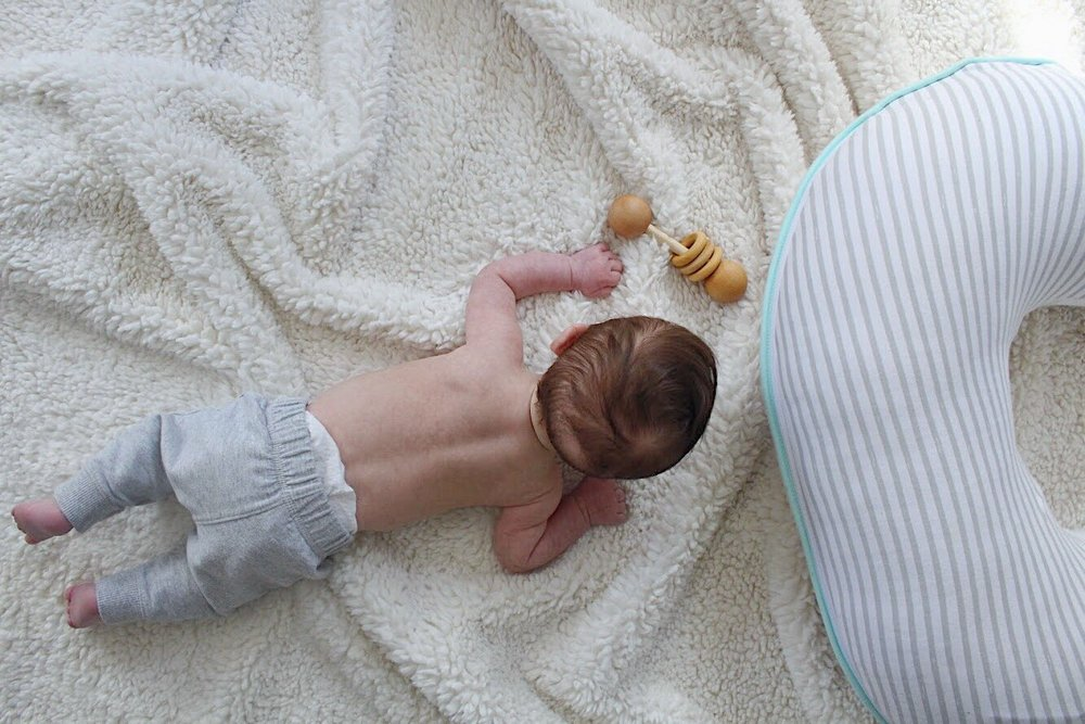Dominic on his tummy