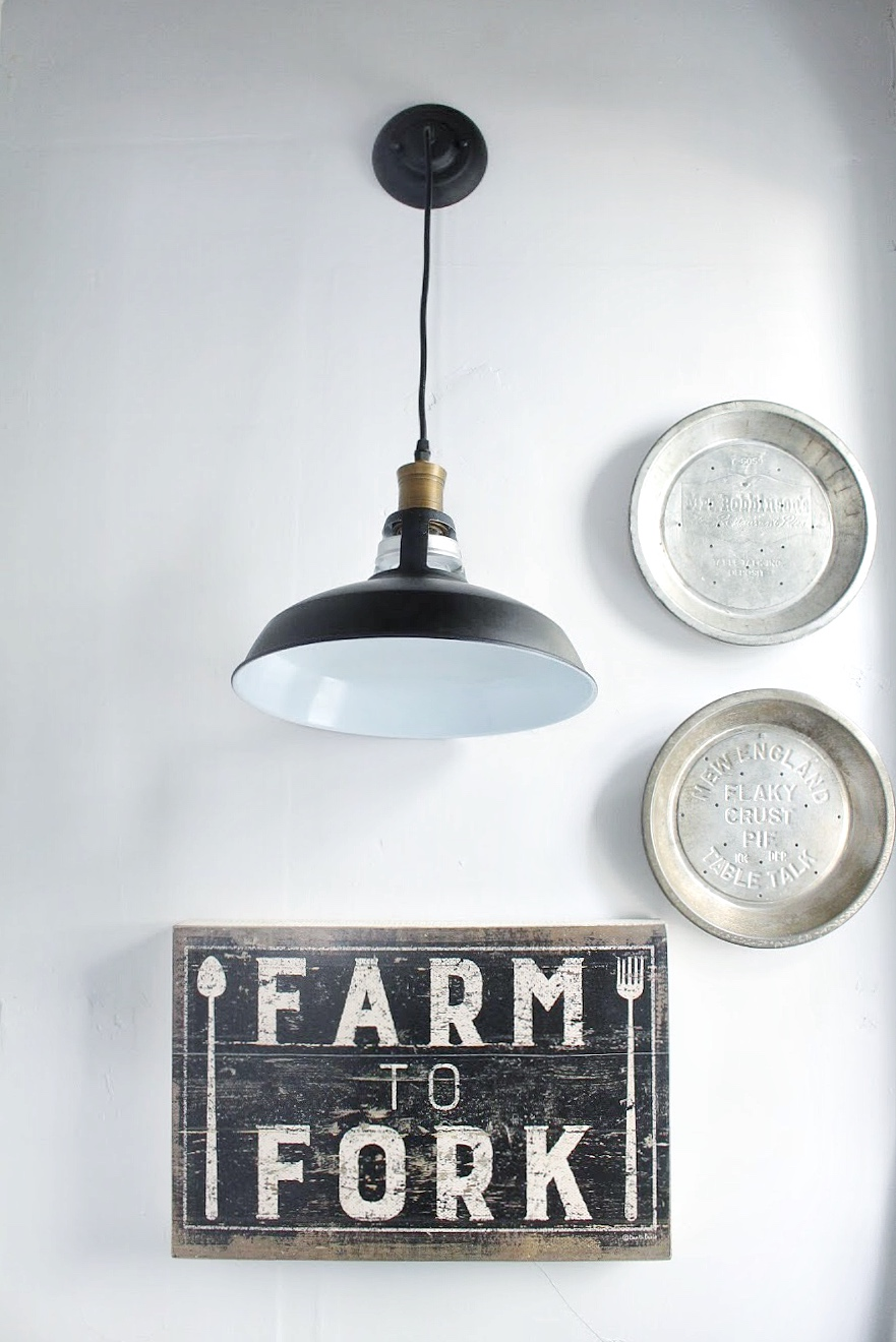 Pantry light and decor