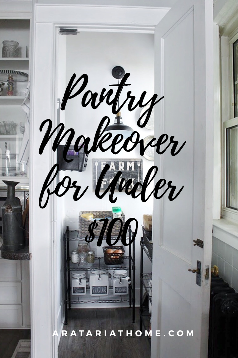 Pantry Makeover for Under $100