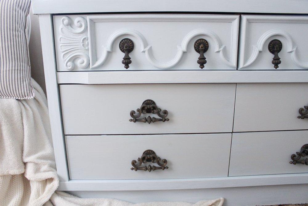 Painted Dresser Details