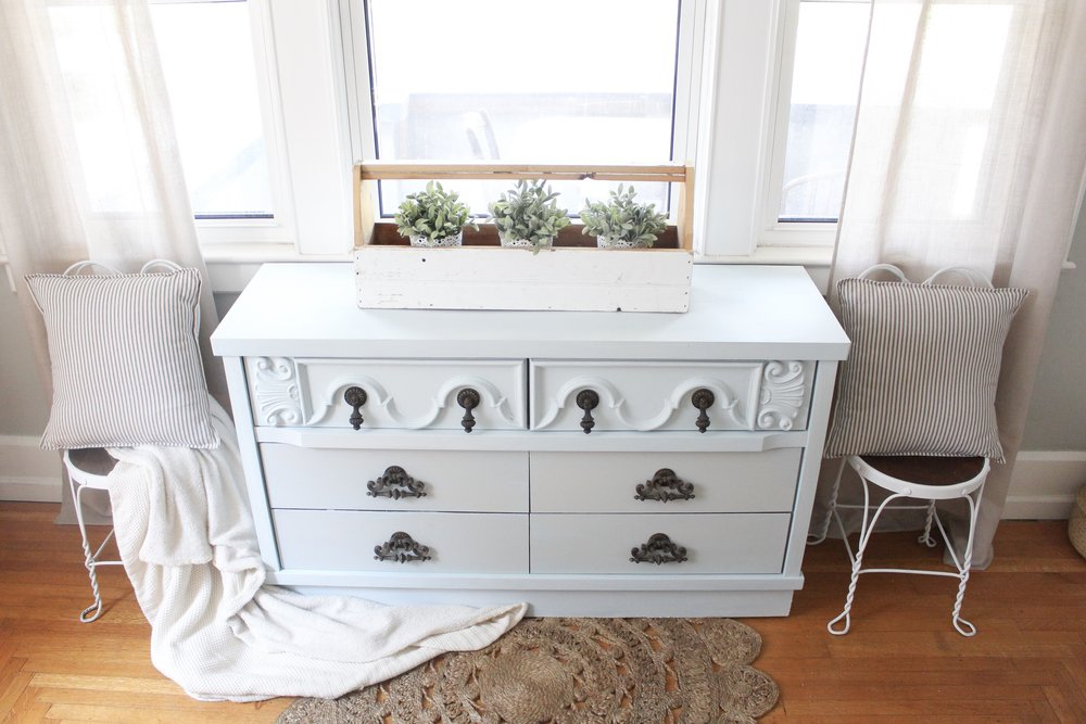 Painted dresser and chairs
