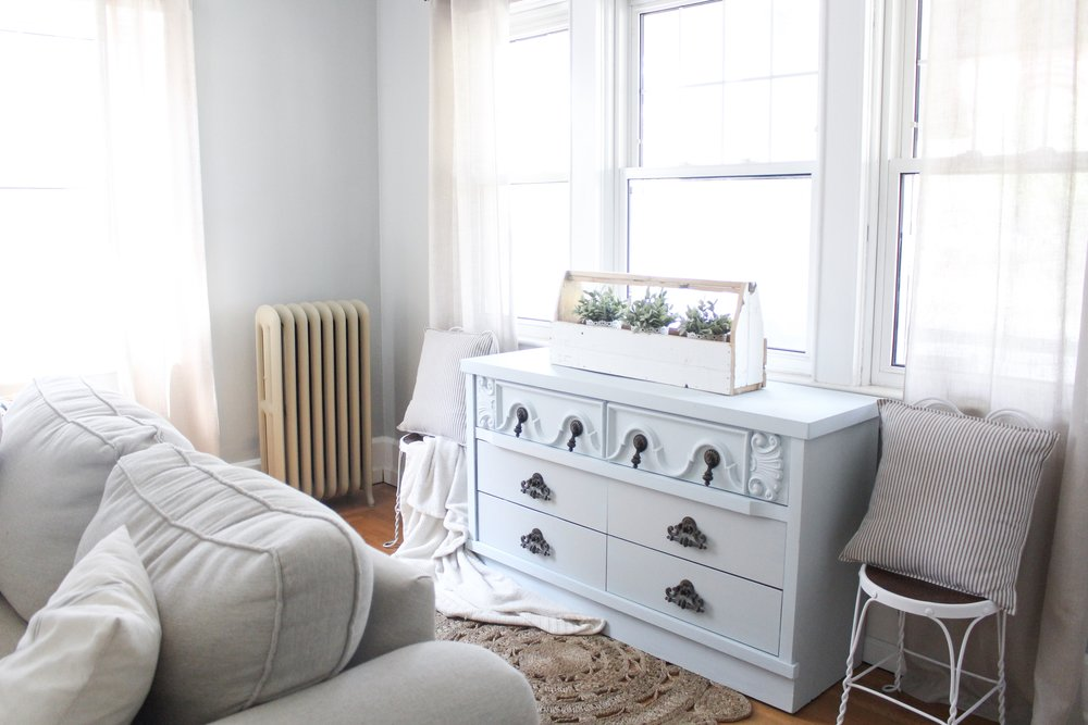 Dresser and couch