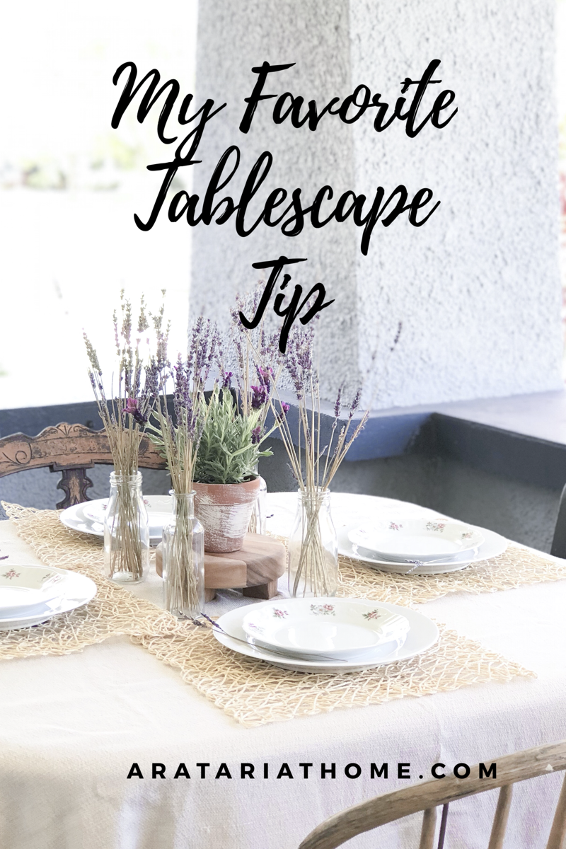 My Favorite Tablescape Tip