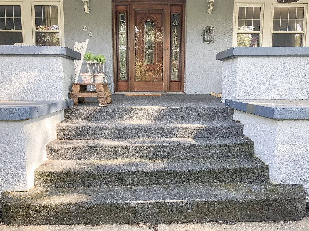 How to Update Concrete Steps before