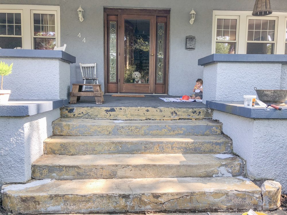 How to Update Concrete Steps during