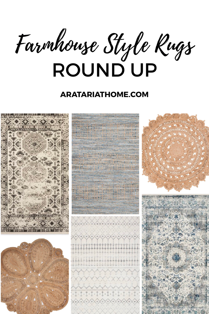 Round up of Farmhouse Style Rugs