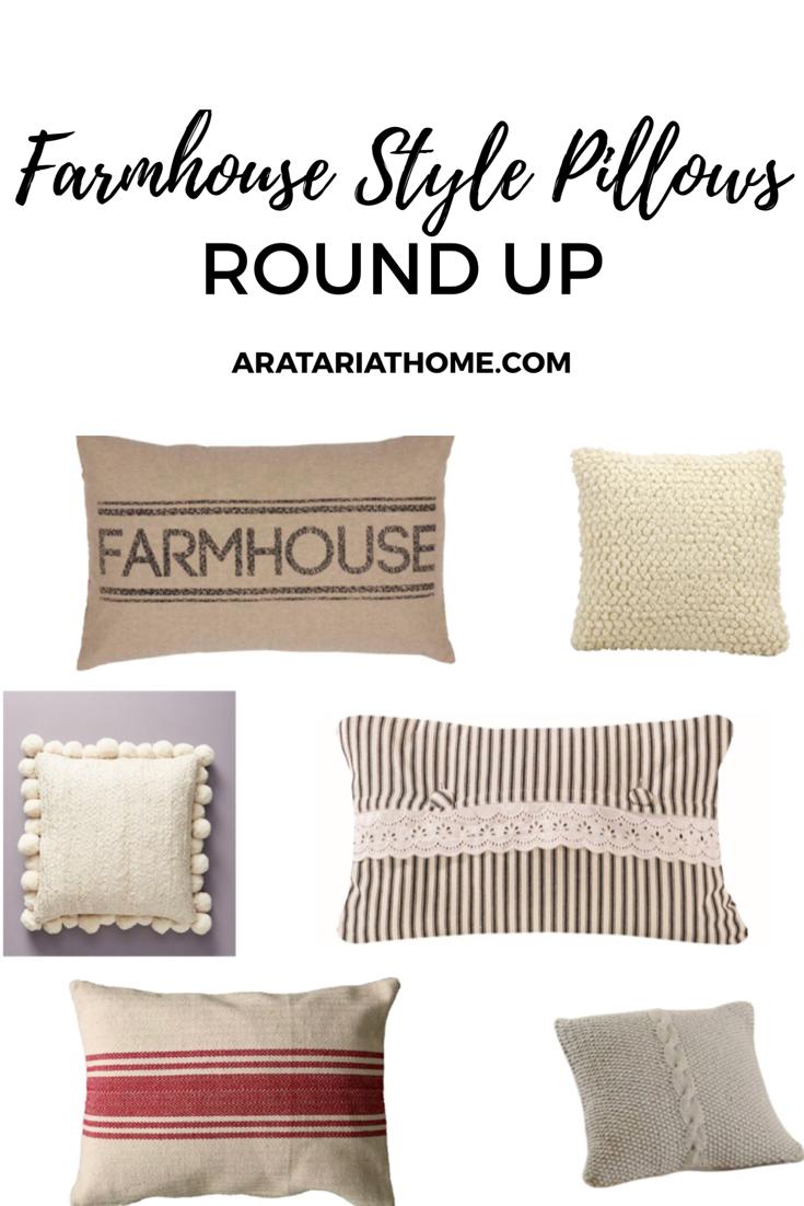 Farmhouse Style Pillows Round Up