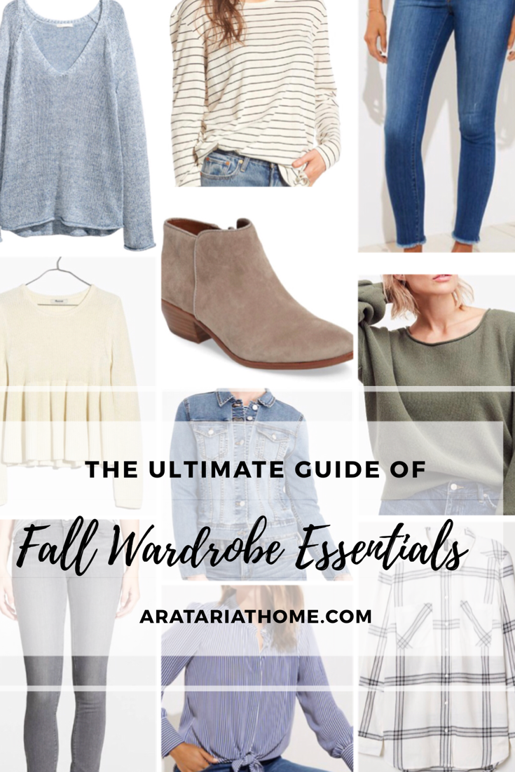 The Ultimate Guide of Fall Wardrobe Essentials