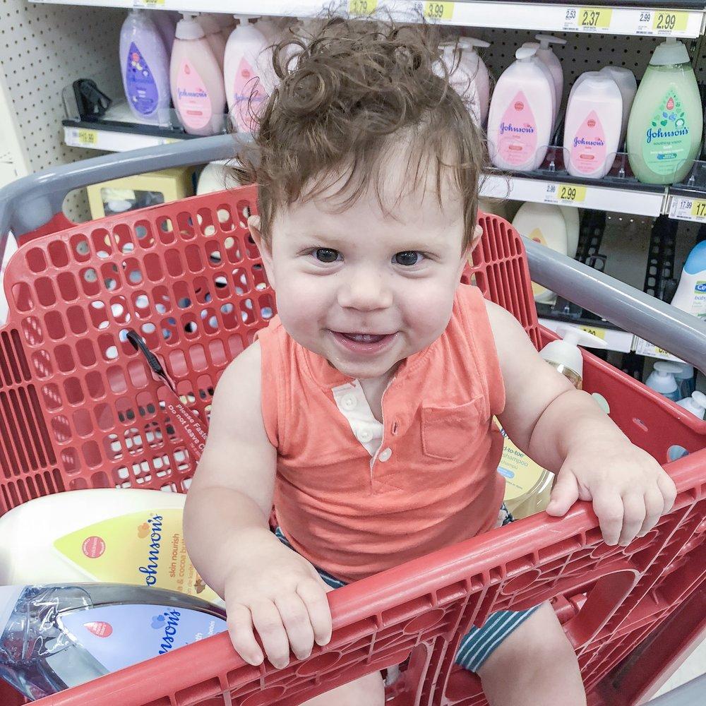 Baby in Target