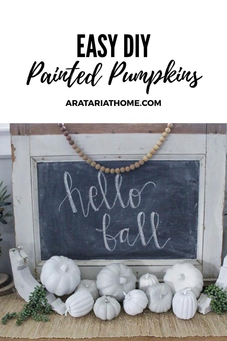 Easy DIY Painted Pumpkins