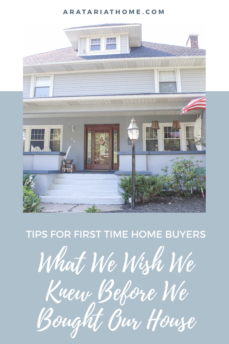 What We Wish We Knew Before We Bought Our House