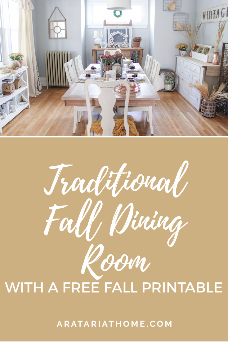 Traditional Fall Dining Room