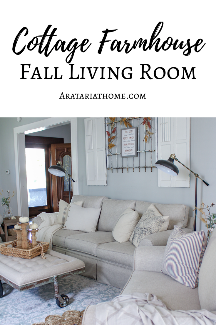 Cottage Farmhouse Fall Living Room