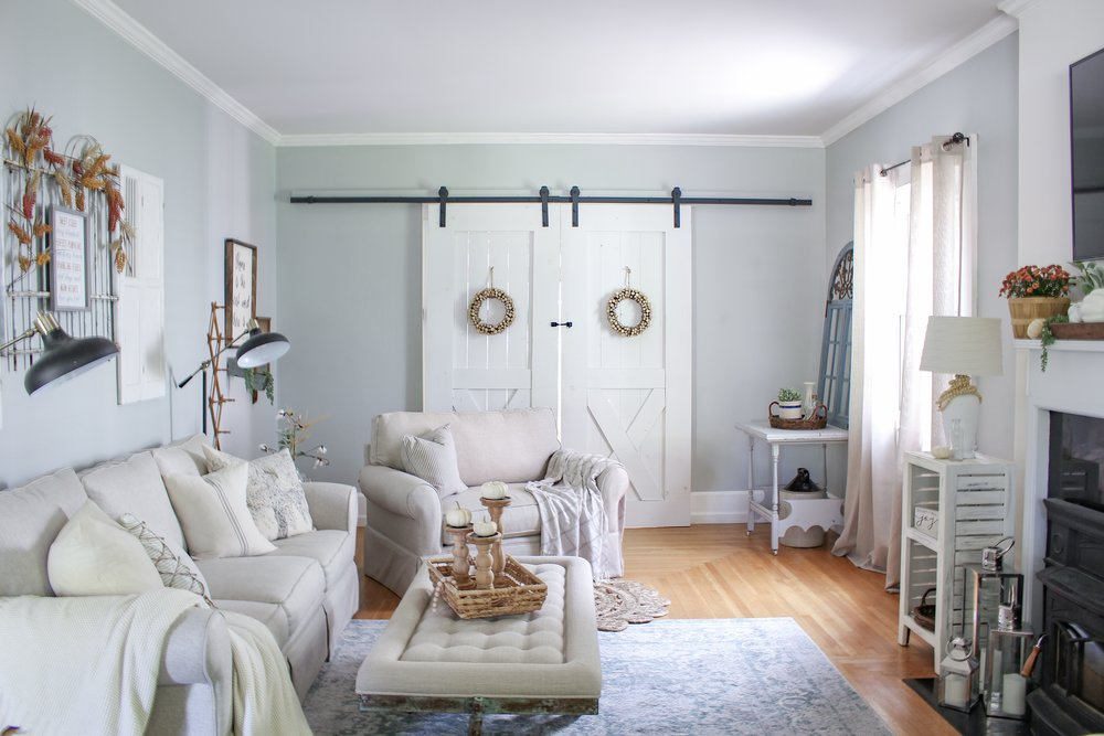 living room barn doors