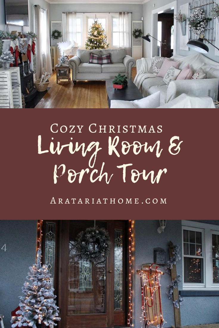 Cozy Christmas Living Room & Porch Tour