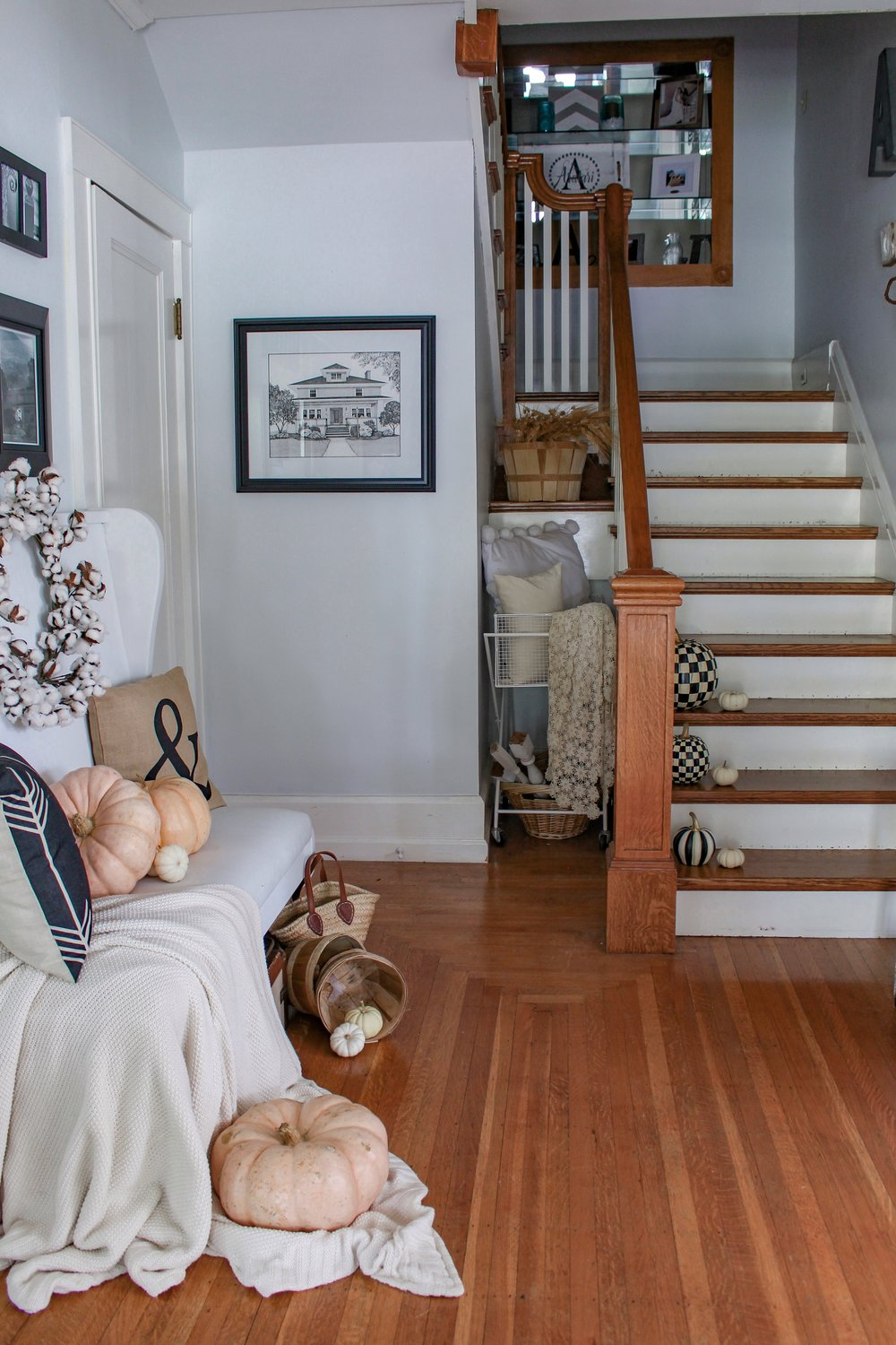 Fall entryway and stairs